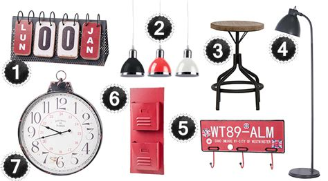 horloge pour cuisine moderne les codes et le style de la décoration industrielle