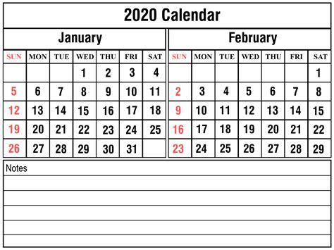 blank january february calendar printable