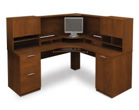 computer desk blueprints 25 bestar elite tuscany brown corner computer desk with hutch on home