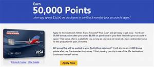 All three chase southwest cards at 50000 points good for Chase southwest business card 50000