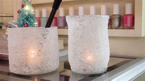 easy candle at home two easy diy ways to make frosted christmas candle votives at home stylish eve
