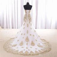 Gold and White Mermaid Wedding Dresses