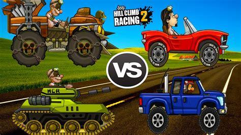 hill climb racing monster truck hill climb racing 2 tank vs super diesel vs monster
