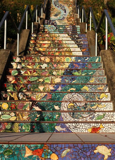 16th avenue tiled steps in san francisco the 16th avenue tiled steps project bored panda