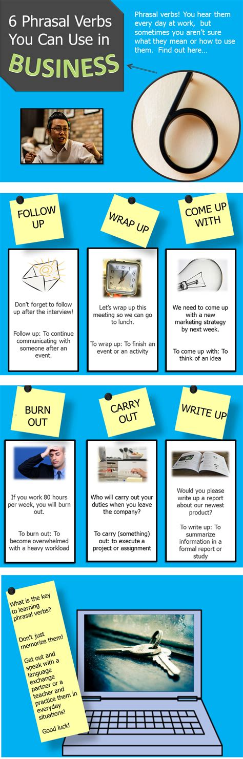 business phrasal verbs  images english phrases