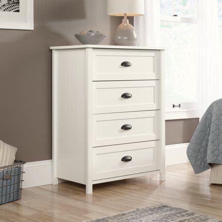 white dresser walmart sauder furniture 416976 county line soft white 4 drawer
