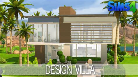 sims  house building design villa speed build youtube