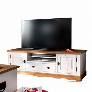 Tv Lowboard : tv lowboard alby wei natur 160 cm breit pinie massiv ~ Watch28wear.com Haus und Dekorationen