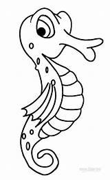 Seahorse Coloring Pages Printable Sea Sheet Drawing Animals Cartoon Seahorses Cool2bkids Outline Getdrawings Simple Ocean sketch template