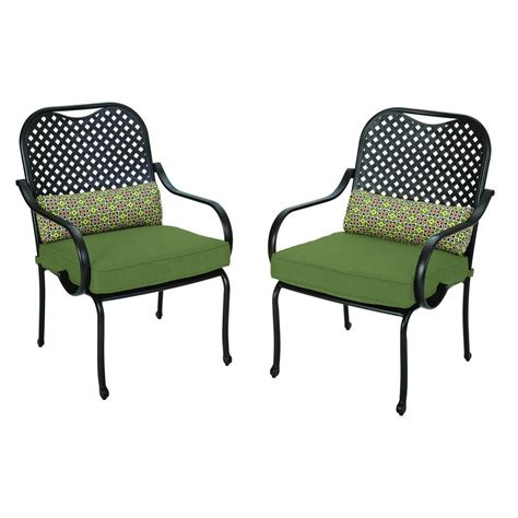 hton bay fall river patio dining chair with moss