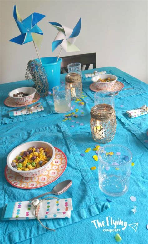Diy Beach Themed Breakfast Table With Sally's Cereals