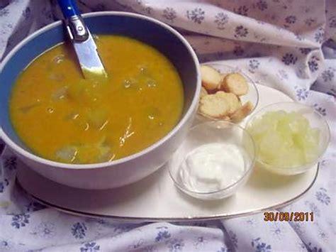 recette de soupe de potiron aux cubes de p 226 tisson blanc