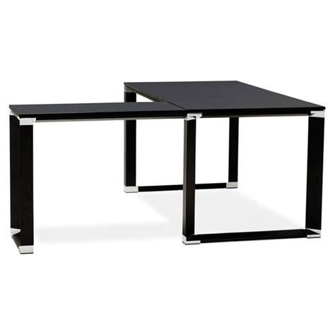 bureau design noir bureau d 39 angle design quot hovik quot bois noir