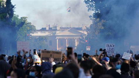 tear gas clears path  trump  visit church