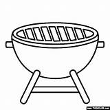Barbecue Grill Bbq Coloring sketch template