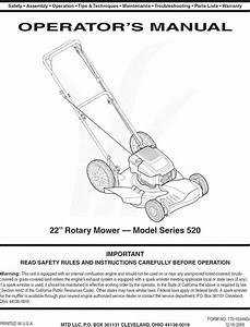 Mtd 12a 529r730 User Manual Lawn Mower Manuals And Guides