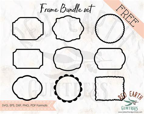 This makes them a great asset in web design. free frames bundle set, picture frame, cricut frame cut ...