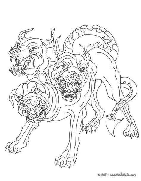 "In Greek mythology, Cerberus, often called the ""hound of"