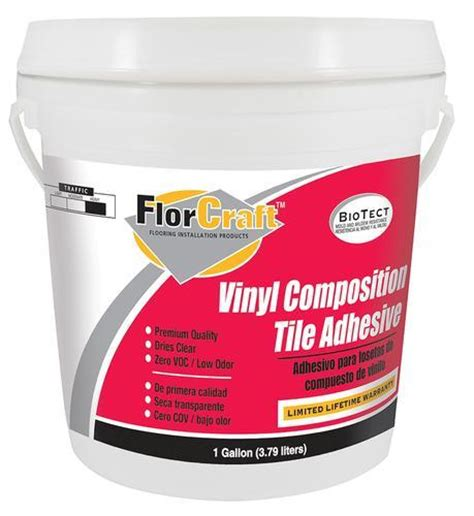 Menards Carpet Tile Adhesive by Florcraft 174 Vinyl Composition Tile Adhesive 1 Gal At