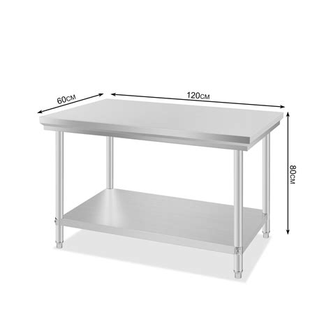 stainless steel food prep table commercial kitchen stainless steel food work prep table