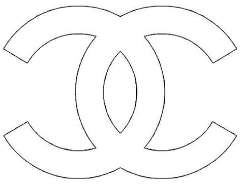 Chanel Logo Stencil Sketch Coloring Page