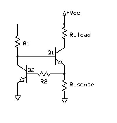 Power Supply Voltage Current Limiting Circuit