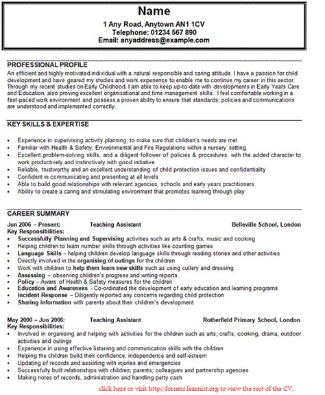 Personal Profile Exles For Teaching Resume by Sle Curriculum Vitae For Buy A Essay For