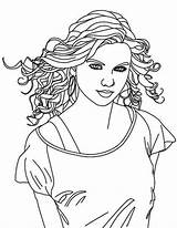 Coloring Swift Singer Taylor Country Drawing Singers Female Colouring Famous Draw Printable Colorluna Getdrawings Getcolorings sketch template