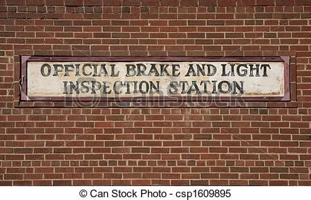 brake and light inspection me stock images of vintage brake and light inspection sign