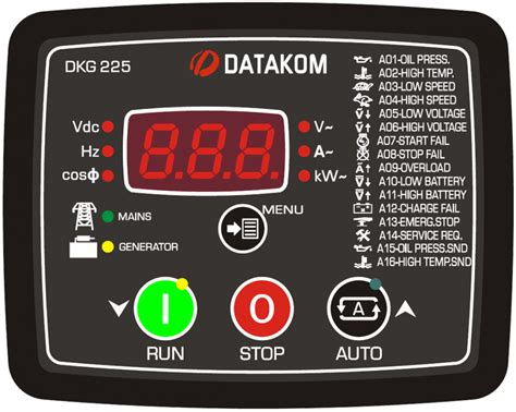 datakom dkg 225 automatic mains failure controller with battery charger buy ats amf