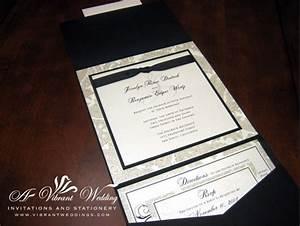 black and white traditional wedding invitation 7x7 With traditional folded wedding invitations