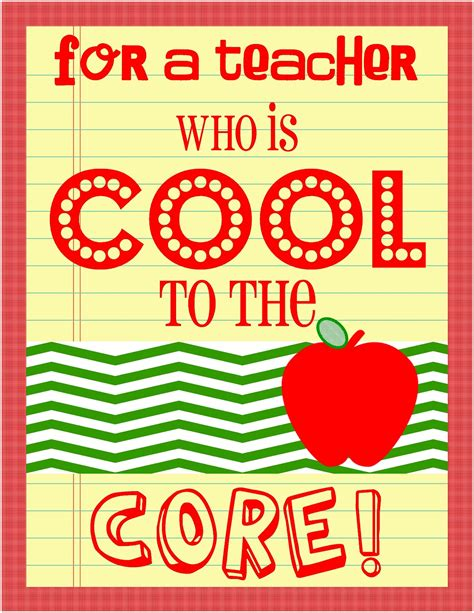 If you're struggling to find the perfect teacher gift, then this is your lucky day! Cool to The Core! Teacher Appreciation Day 4