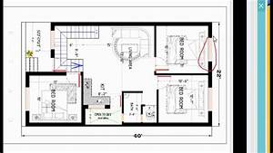 22x40 Modern House Plan Details