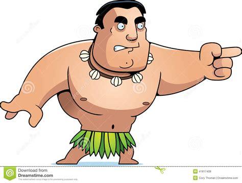 Cartoon Islander Angry Stock Vector