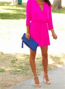 cute summer v neck wedding guest dresses 2015 With hot pink dress for wedding guest
