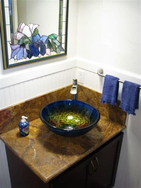 Eden Bath Gs17 True Planet Glass Sink Bowl Tropical