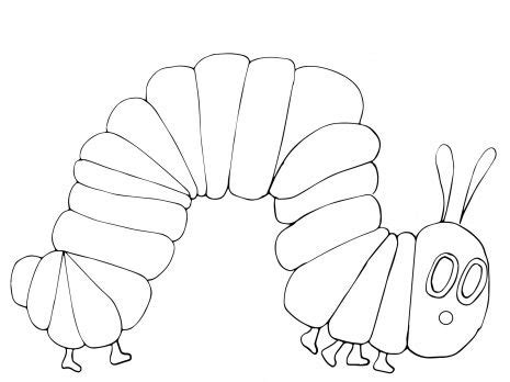 hungry caterpillar coloring page super coloring
