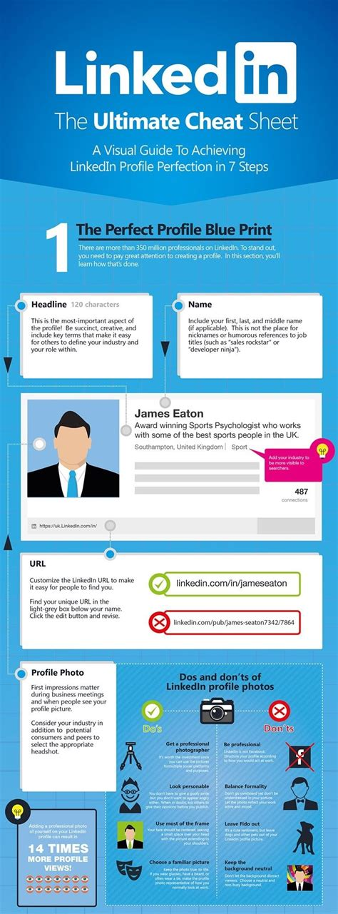 linkedin the ultimate sheet visual guide infographics