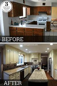 before after 3 unique kitchen remodeling projects With kitchen cabinet trends 2018 combined with dining room wall art pinterest