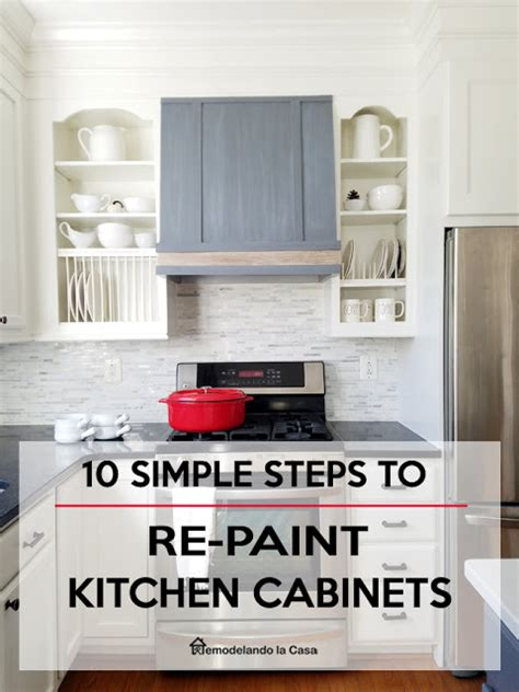 simple steps to painting your cabinets or cupboards modern farmhouse kitchen makeover remodelando la casa 7
