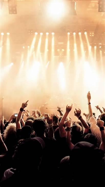 Concert Rock Crowd Wallpapers Iphone Smartphone Plus