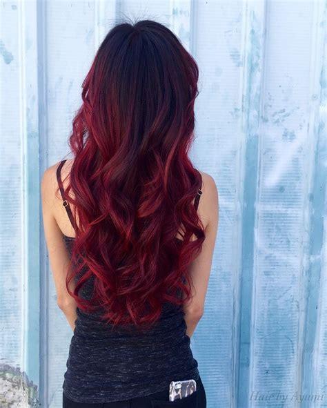balayage red ombre   red balayage hair balayage