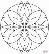 Kaleidoscope Coloring Pages Printable Drawing Games Categories sketch template