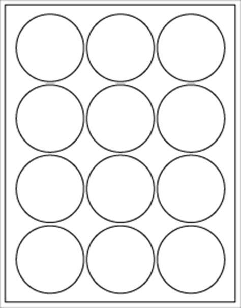2 5 quot circle white waterproof inkjet label