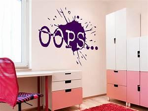 Coole Wandtattoos Jugendzimmer : wandtattoo oops f r teenager wandtattoo de ~ Frokenaadalensverden.com Haus und Dekorationen