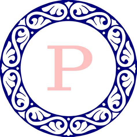 monogram p clip art  clkercom vector clip art  royalty  public domain