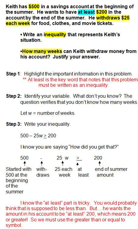 inequality word problems repinned by chesapeake college adult ed free classes on the eastern