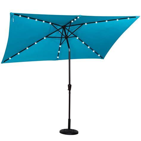 led outdoor umbrella best rectangular patio umbrella with solar lights 3710