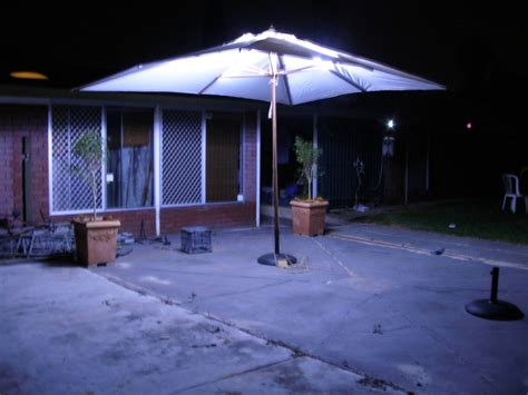 led outdoor umbrella lighting espa 241 ol