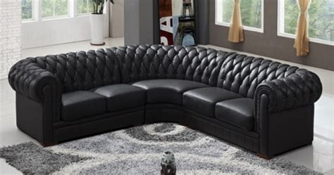 canapé d angle chesterfield deco in canape d angle capitonne cuir chesterfield
